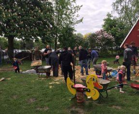 Sandaustausch im Kinderhaus 2018